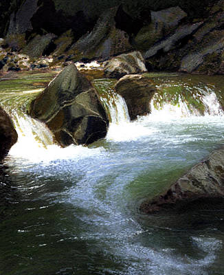 Robert Duvall Painting - Little Yosemite-alameda Creek by Robert Duvall