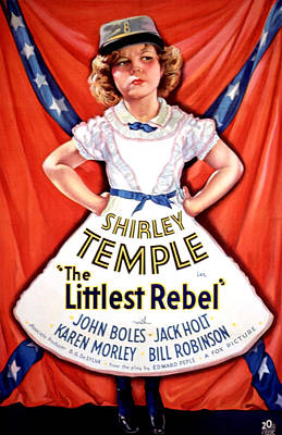 Littlest Rebel, Shirley Temple, 1935 Art Print by Everett