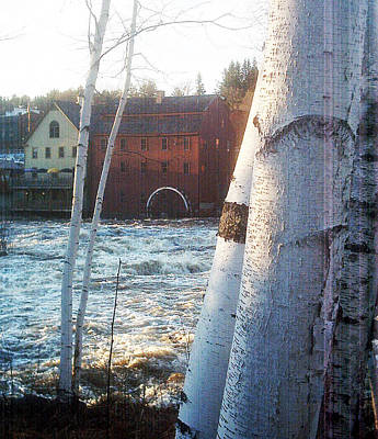 Winter Animals Rights Managed Images - Littleton on the Ammonoosuc Royalty-Free Image by Marie Jamieson