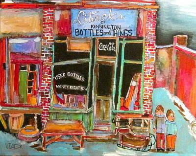 Litvack Painting - Litvack's Of Kensington by Michael Litvack