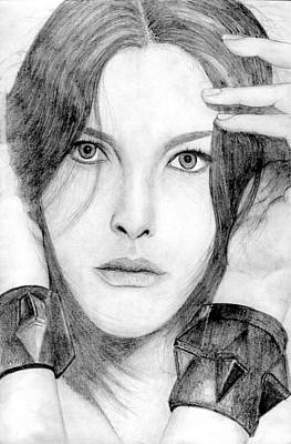 Liv Tyler Drawing - Liv Tyler by Felix  Leer