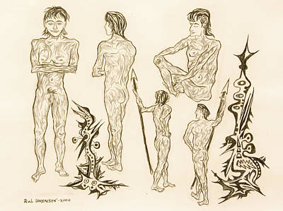 Painting - Live Nude 16 Male by Robert SORENSEN