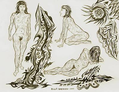 Live Nude 17 Female Art Print