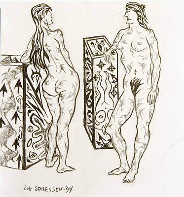 Live Nude 19 Female Art Print