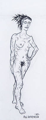 Painting - Live Nude Female No. 30 by Robert SORENSEN
