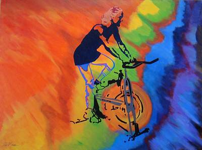 Bill Manson Fine Art Painting - Live To Ride by Bill Manson