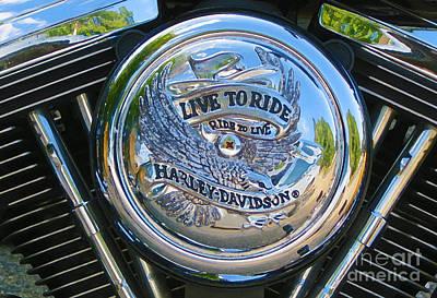 Live To Ride Art Print by Patricia Januszkiewicz