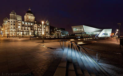 Liverpool - The Old And The New  Art Print by Beverly Cash
