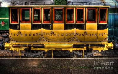 Photograph - Liverpool Manchester Times Railway Coach by Yhun Suarez