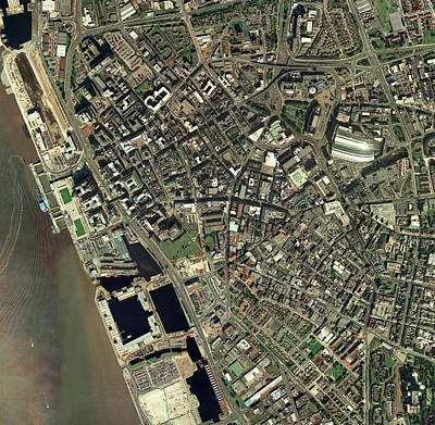 Liverpool, Uk, Aerial Image Art Print by Getmapping Plc