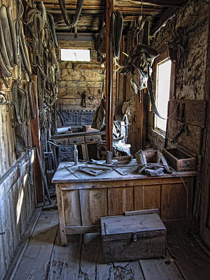 Livery Stable Photograph - Livery Stable Work Area - Virginia City Ghost Town - Montana by Daniel Hagerman