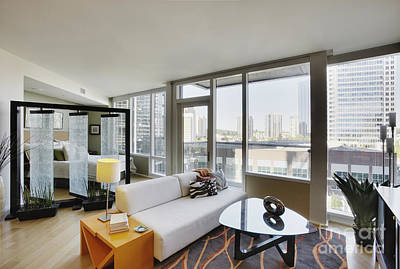 Upscale Photograph - Living Area In Upscale Condo by Andersen Ross