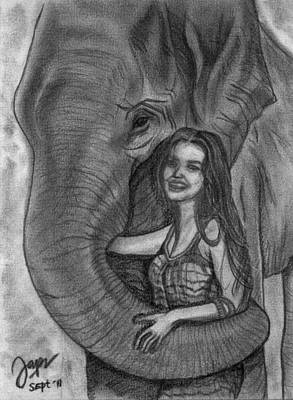 Pencil Sketch Drawing - Living Harmony by Cheppy Japz