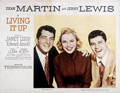 Dean Martin Poster Photograph - Living It Up, Dean Martin, Janet Leigh by Everett