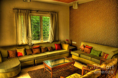 Photograph - Living Room by Charuhas Images