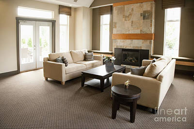 Upscale Photograph - Living Room In An Upscale Home by Shannon Fagan