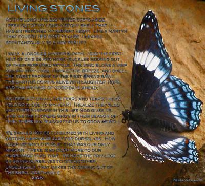 All Occasion Card Mixed Media - Living Stones Poem by Debra     Vatalaro