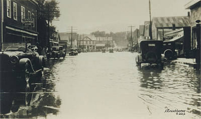Photograph - Livingston Manor 1938 Flood by Ericamaxine Price