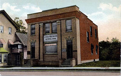 Photograph - Livingston Manor Ny - National Bank by Ericamaxine Price