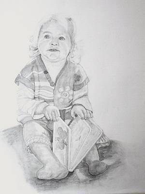 Drawing - Livvy  by Peter Edward Green