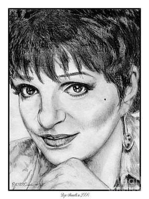 Drawing - Liza Minnelli In 2006 by J McCombie