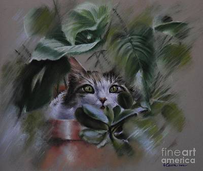 Pastel - 'lizy In Hiding' by Tony Calleja