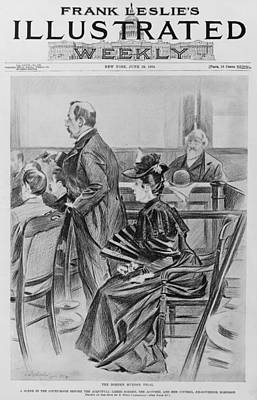 Lizzie Borden, On Trial For The Ax Art Print by Everett