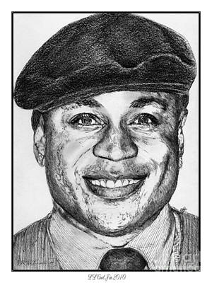 Hip Drawing - Ll Cool J In 2010 by J McCombie