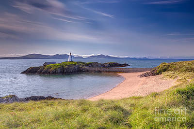 Llanddwyn Beacon Art Print by Adrian Evans