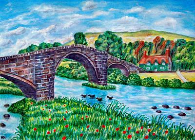 Wales Painting - Llanrwst Bridge - Wales by Ronald Haber
