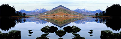 Wales Digital Art - Llyn Mymbyr With View Of Snowdonia, North Wales by Raj Kamal