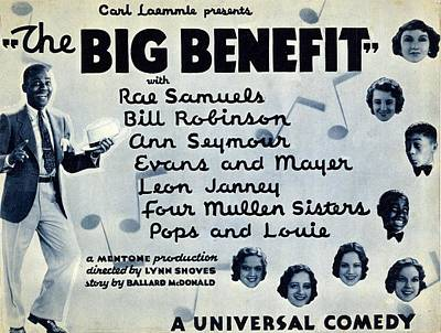 Lobby Card For The Big Benefit Shows Art Print