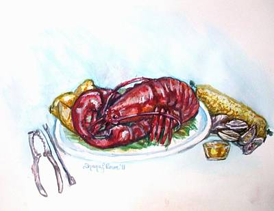 Painting - Lobstah Dinnah by Shana Rowe Jackson