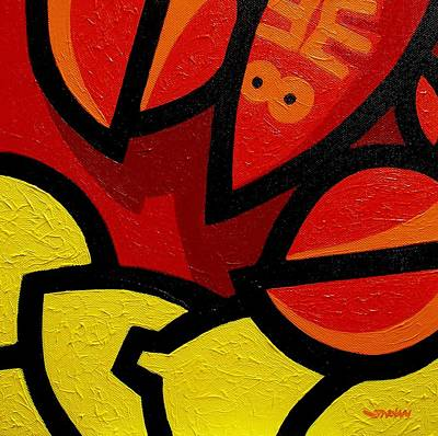 Lemon Painting - Lobster And Lemons  by John  Nolan