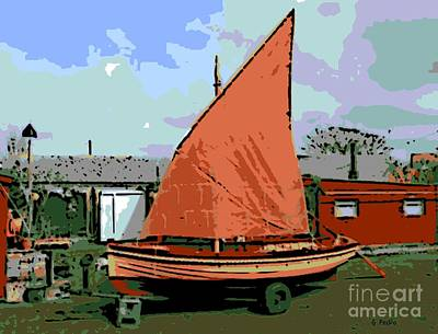 Lobster Boat Art Print by George Pedro