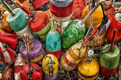 Photograph - Lobster Bouys by Fred LeBlanc