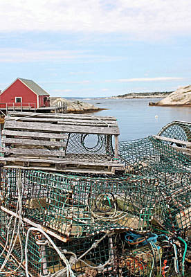 Lobster Pots Print by Kristin Elmquist