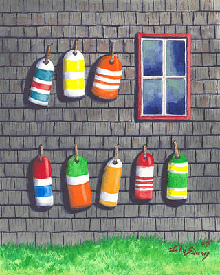 Lobster Bouys Painting - Lobster Shack3 by John  Sweeney