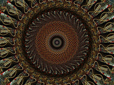 Digital Art - Lobster Trap Mandala by Bill Barber