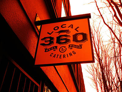 Local 360 In Orange Art Print by Kym Backland