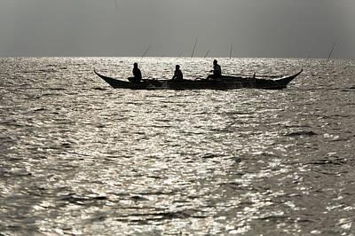 Malapascua Island Photograph - Local Fishing Boat Returning by Tim Laman