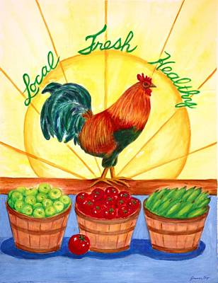 Painting - Local Fresh Healthy by Jeanne Kay Juhos