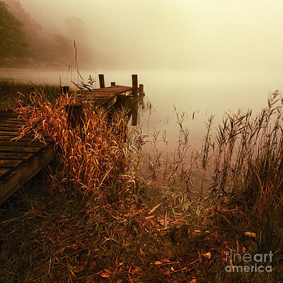 Colour Image Photograph - Loch Ard Early Mist  by John Farnan