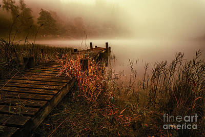 Colour Image Photograph - Loch Ard Early Morning Mist by John Farnan