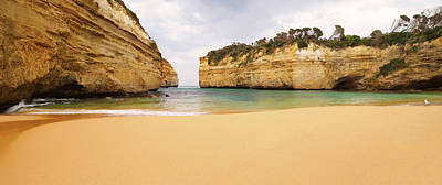 Loch Ard Gorge Beach Art Print by Visual Clarity Photography
