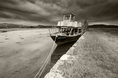 Loch Etive Jetty Old Boat Art Print