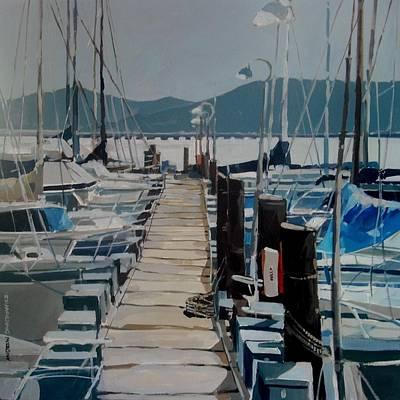 Loch Lomond Marina Art Print