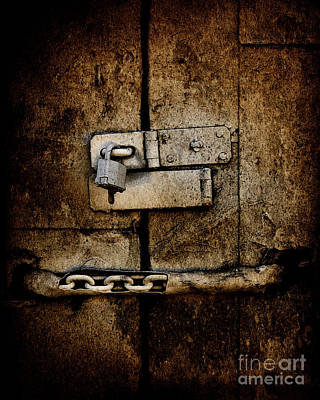 Photograph - Locked Door by Bobbi Feasel