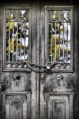 Photograph - Locked by Emily Stauring