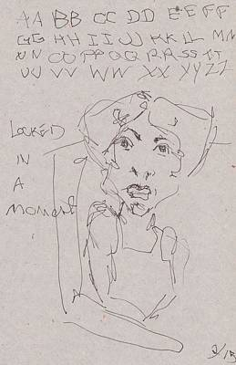 Primitive Drawing - Locked In A Moment by Catherine Carr